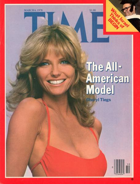 Cheryl Tiegs in a swimsuit on the cover of Time Magazine March 1978